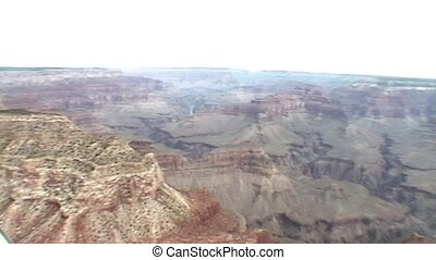 Heli view on Grand Canyon (USA) - Flying with helicopter...