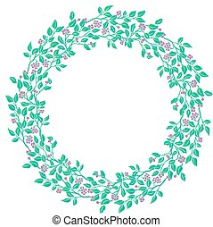Circle cute hand drawn frames on the white background. Love...
