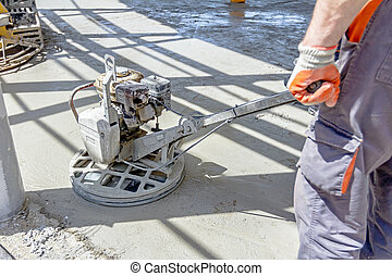 Power trowel machine for finishing surface concrete leveling...