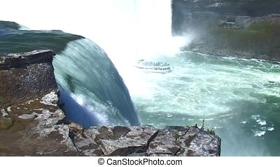 Niagara Falls (USA side) - Niagara Falls with in the river...