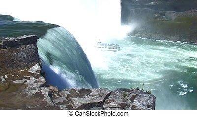 Niagara Falls (USA side) - Niagara Falls with in the river...