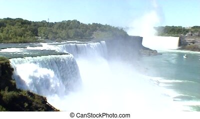 View over the Niagara Falls (USA side) - Niagara Falls in...