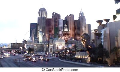 Evening in Las Vegas - The Strip in Las Vegas by night
