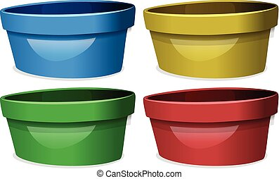 Bowls in four different colors