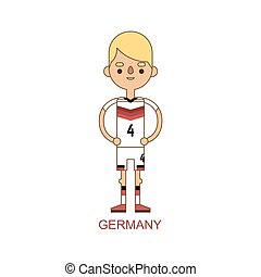 Germany national soccer football player illustration