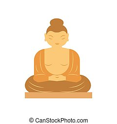 Buddha bangkok thailand religion statue vector illustration....