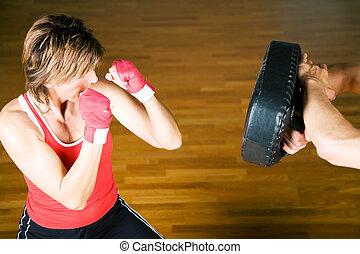 marcial, artes, Se entrenar en boxeo