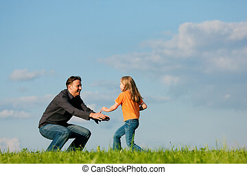 Family affairs - father and daughter - Father and his kid -...