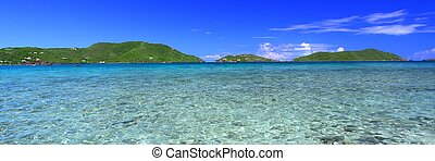 Beautiful Tortola BVI - View of the Caribbean island Tortola...