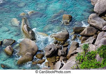 Sea Similan - Beautiful Bay, rocks, clear sea on the island...