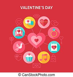 Concept Happy Valentine Day. Vector Illustration of Love...