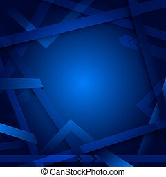 Abstract lines geometric blue background