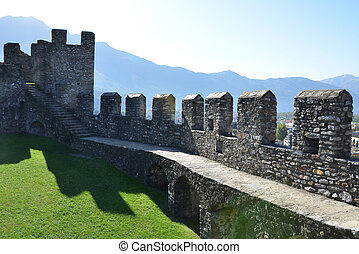 Fortifications in Bellinzona, Switzerland