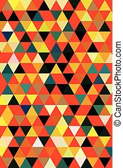 colorful abstract background - Triangular geometric colorful...