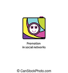promotion in social networks - Icon promotion in social...
