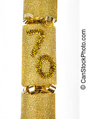 70th Birthday Cracker - A shot of a 70th Birthday Cracker or...