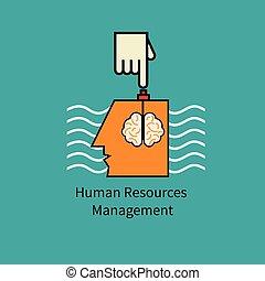 Icon human resource management. Symbol manipulation. Hand...