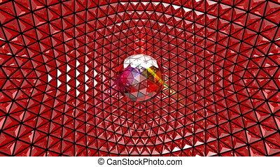 4K UHD Multicolor Glittering Disco Ball Video. Seamless...