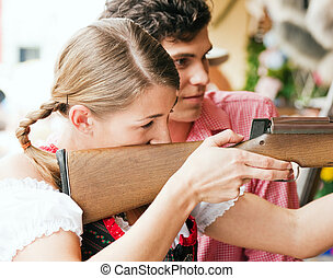 Carnival couple - shooting gallery