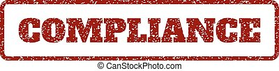 Compliance Rubber Stamp - Dark Red rubber seal stamp with...