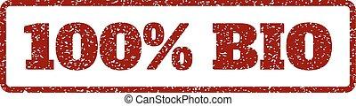 100 Percent Bio Rubber Stamp