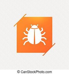 Bug sign icon. Virus symbol. Software bug error....