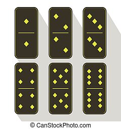 Domino icon illustration of six pieces diamond - Domino icon...