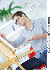 young adult businessman architect