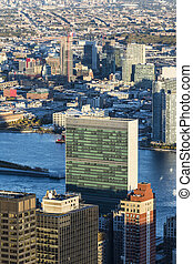 United Nations New York City - view of United Nations...