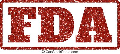 FDA Rubber Stamp - Dark Red rubber seal stamp with FDA text....