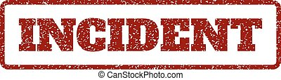 Incident Rubber Stamp - Dark Red rubber seal stamp with...