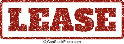 Lease Rubber Stamp - Dark Red rubber seal stamp with Lease...
