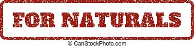 For Naturals Rubber Stamp - Dark Red rubber seal stamp with...