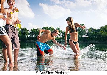 verano, lago