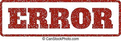 Error Rubber Stamp - Dark Red rubber seal stamp with Error...