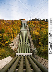 hydropower plant - Pumped storage hydropower plant in Kochel...