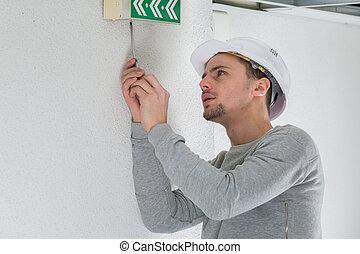 建築物, 專業人員, 工作, 電工, 年輕