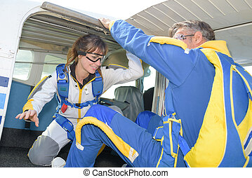woman's skydiving experience