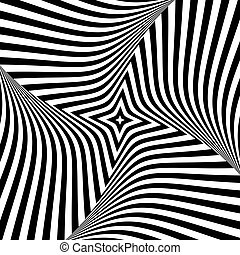 Abstract op art design. Torsion movement. Vector...
