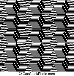 Seamless geometric op art pattern. - Seamless op art...