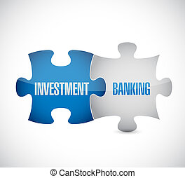 currency concept, Investment Banking on puzzle