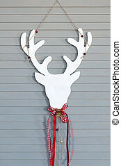 Deer head on wall. Christmas decoration - Decorative deer...