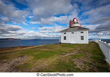 Cape Spear Lighthouse overlooking the Atlantic Ocean -...