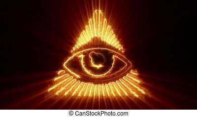 The Eye of Providence Loop - is a symbol showing an eye...
