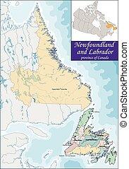Map of Newfoundland and Labrador - Newfoundland and Labrador...