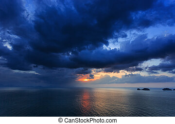 Dramatic Sunset in Thailand - Dramatic Sunset in Phuket,...