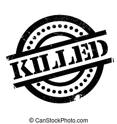 Killed rubber stamp. Grunge design with dust scratches....