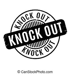 Knock Out rubber stamp. Grunge design with dust scratches....