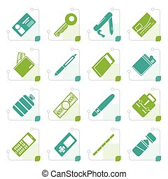 Stylized Simple Vector Object Icons - Vector Icon Set