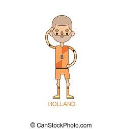 National holland soccer football player vector illustration...